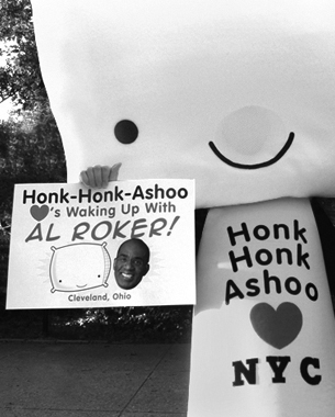 To promote our Honk-Honk-Ashoo toy promotion in Target, I dressed up as Honk, went to Times Square and Central Park in NYC, gave away Honk toys and drew cartoons for children. Yes I did do this. You can watch it here in all it's shameless glory.