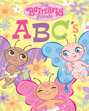 "Children will enjoy learning their ABC's with the ""Tiny Butterfly Friends!"" These irresistable babies live and play in a wonderful world of flowers, nature, and tea parties. Parents and children will love the whimsical art. Butterfly babies and ABC's are a winning combination!"