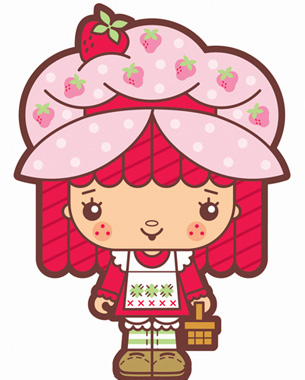 My take on Strawberry Shortcake 'ala Sanrio style.