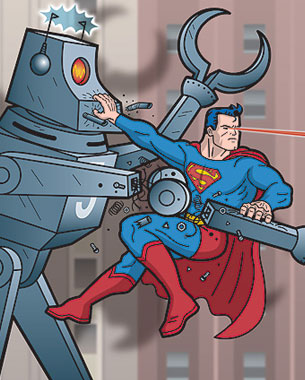 Superman VS Fleischer Robots!