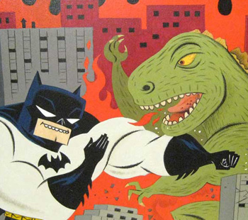 """BAT-TLE ROYALE!"" ( Batman vs Godzilla )"