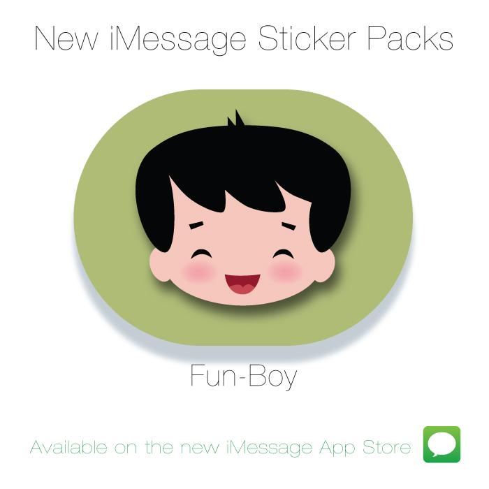New Fun-Boy Sticker Pack for iMessage