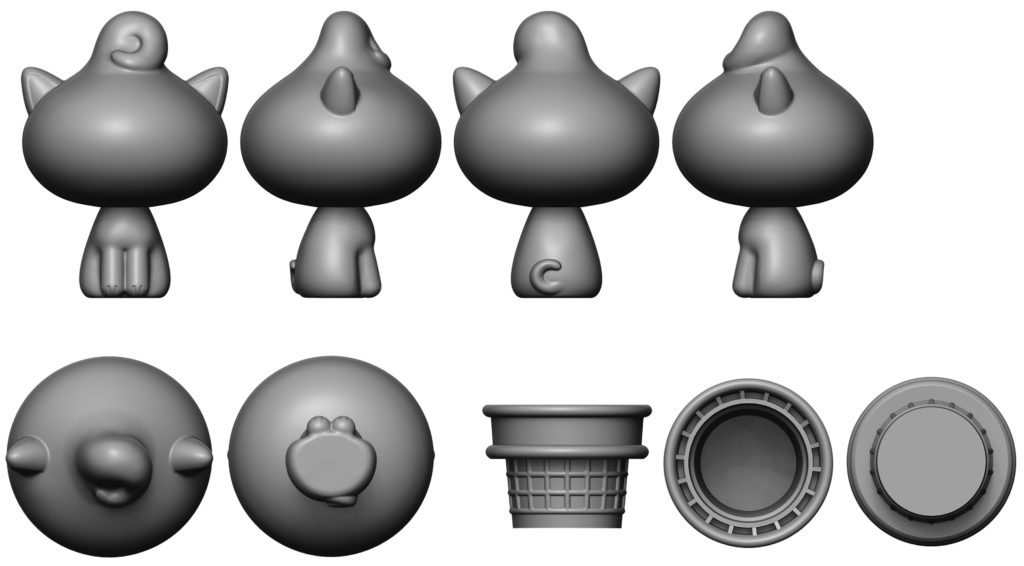 kitty_cones_3d_turnarounds