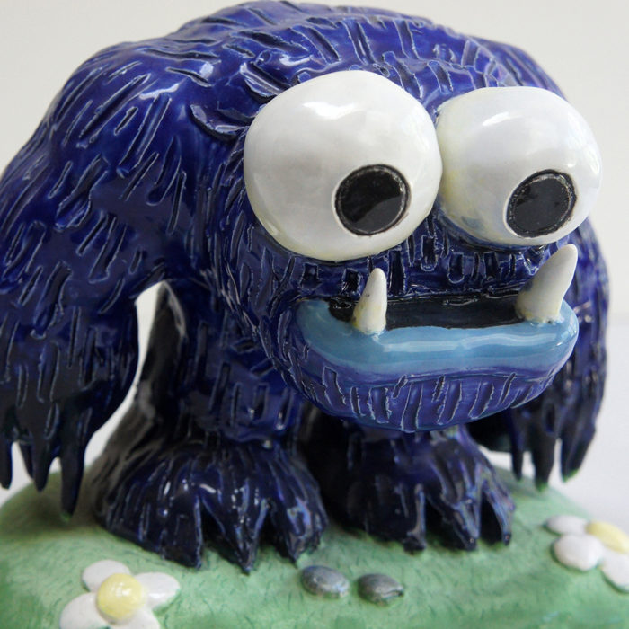 Cookie Monster Clay Sculpture